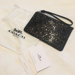 Coach Glitter Collection Wristlet Clutch